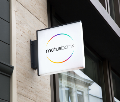 The Motus Bank outdoor signage